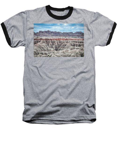 Badlands National Park Vista Baseball T-Shirt