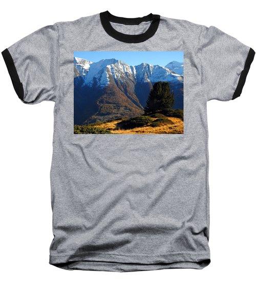 Baettlihorn In Valais, Switzerland Baseball T-Shirt by Ernst Dittmar