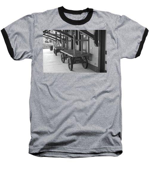 Baggage Carts Bw Baseball T-Shirt