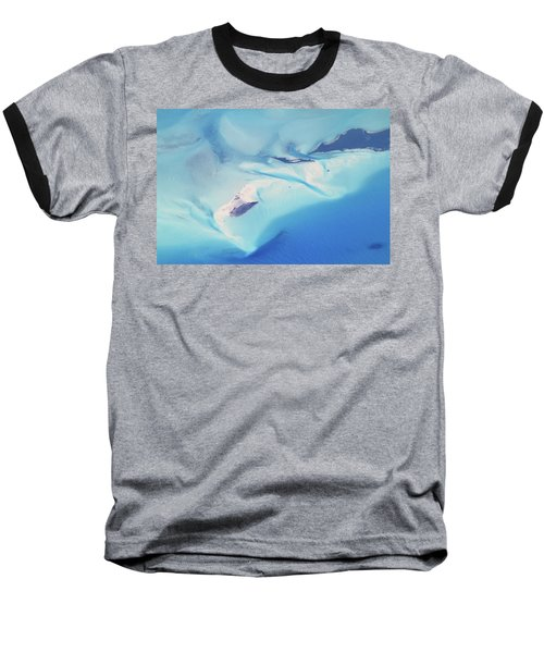 Baseball T-Shirt featuring the photograph Bahama Banks Aerial Seascape by Roupen  Baker