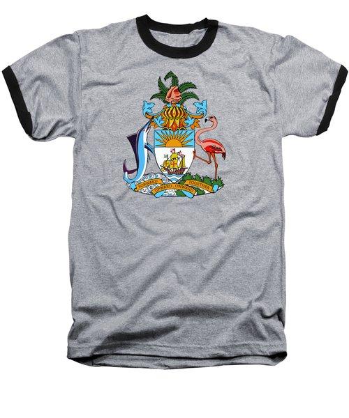 Bahamas Coat Of Arms Baseball T-Shirt by Movie Poster Prints
