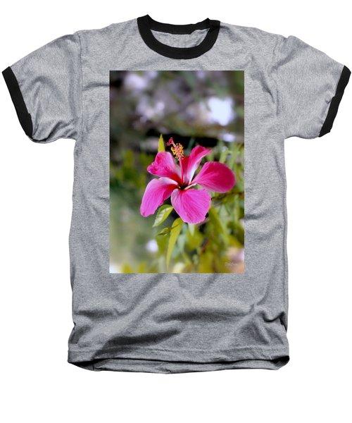 Bahamian Flower Baseball T-Shirt