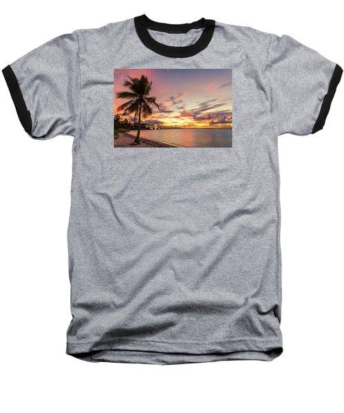 Bahia Honda State Park Sunset Baseball T-Shirt