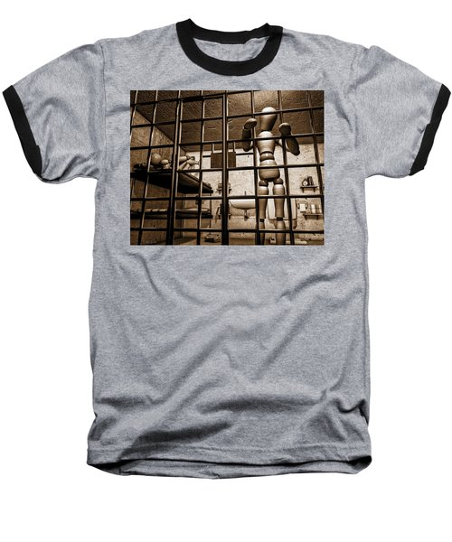 Bail Denied  Baseball T-Shirt by Bob Orsillo