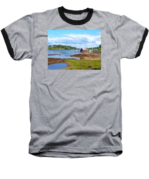 Bailey Island Lobster Shack Baseball T-Shirt