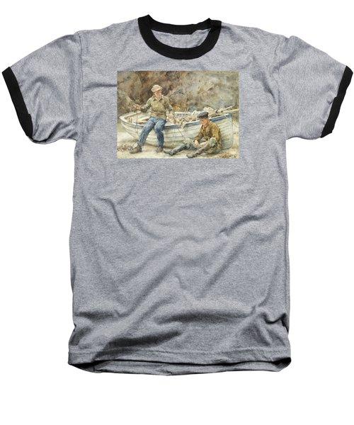 Bailing A Spiller Baseball T-Shirt by Henry Scott Tuke