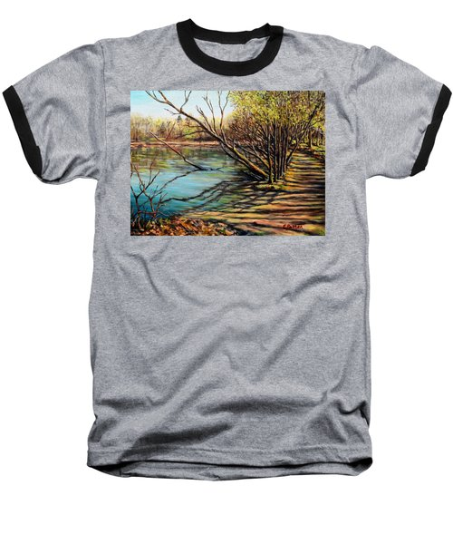 Bakers Pond Ipswich Ma Baseball T-Shirt by Eileen Patten Oliver