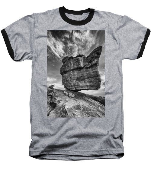 Balanced Rock Monochrome Baseball T-Shirt