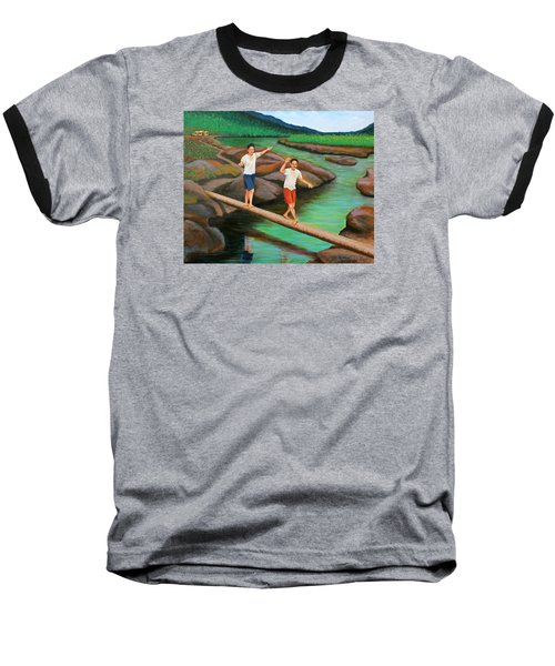 Balancing Life Through A Straight And Narrow Path Baseball T-Shirt