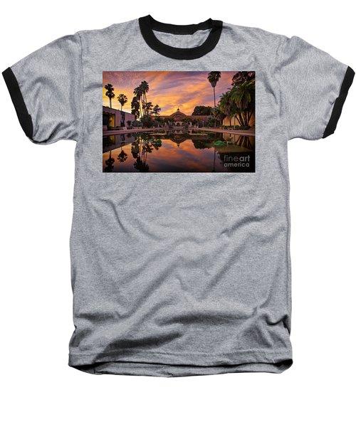 Balboa Park Botanical Building Sunset Baseball T-Shirt