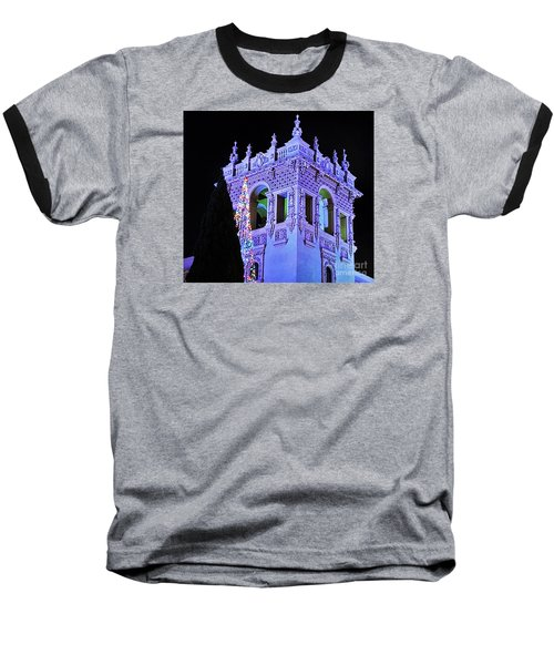 Balboa Park December Nights Celebration Details Baseball T-Shirt by Jasna Gopic
