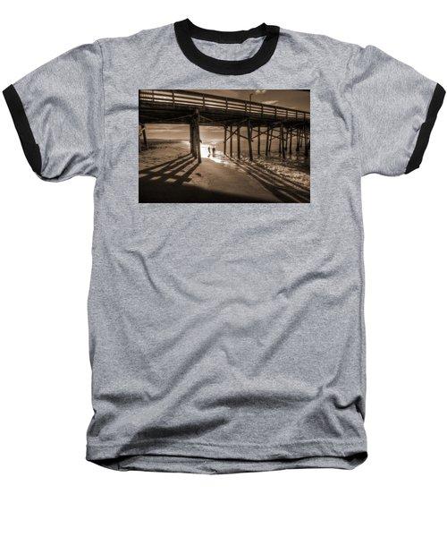 Balboa Pier Fishermen Baseball T-Shirt