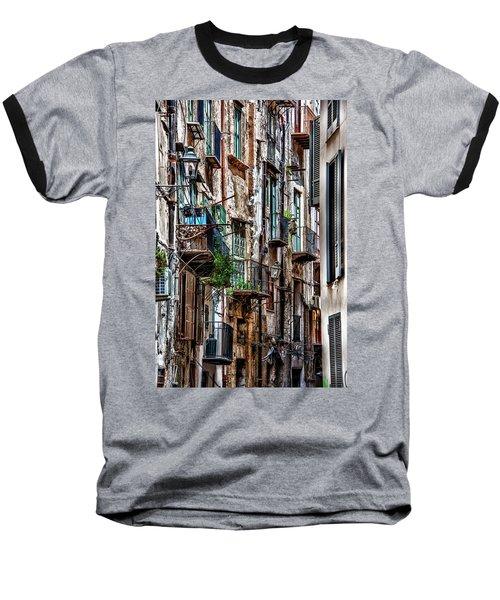 Balconies Of Palermo Baseball T-Shirt by Patrick Boening