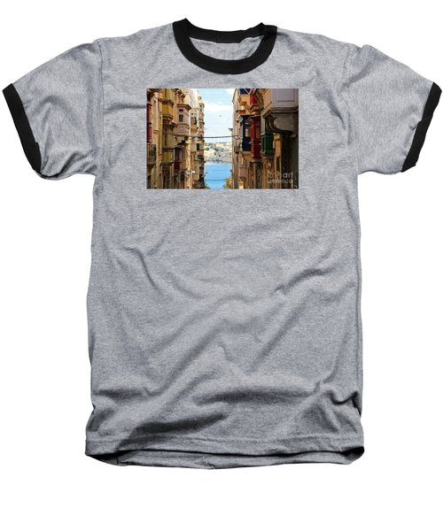 Balconies Of Valletta 2 Baseball T-Shirt