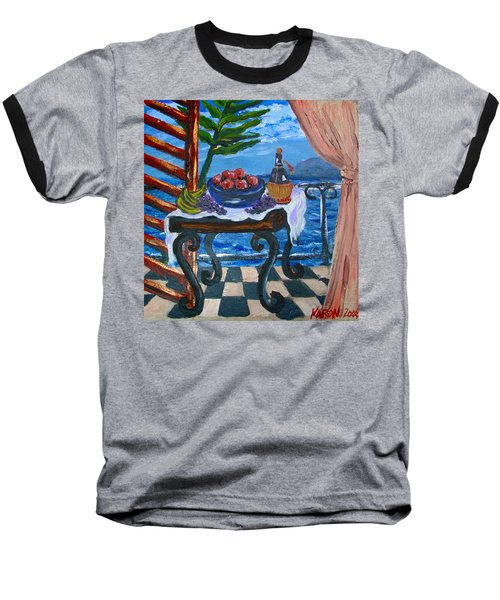 Balcony By The Mediterranean Sea Baseball T-Shirt