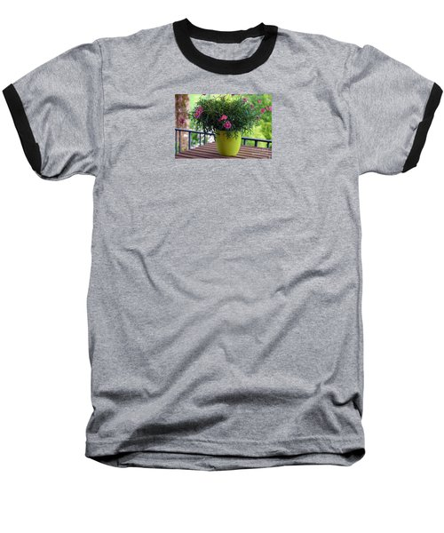 Baseball T-Shirt featuring the photograph Balcony Flowers by Susanne Van Hulst