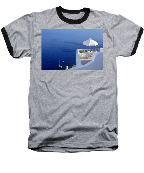 Balcony Over The Sea Baseball T-Shirt