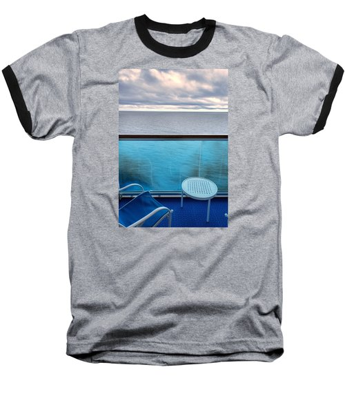 Balcony View Baseball T-Shirt by Lewis Mann