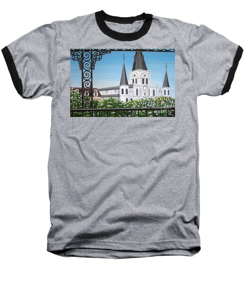 Balcony View Of St Louis Cathedral Baseball T-Shirt