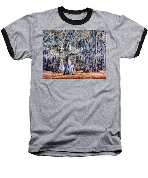 Bald Cypress In Caddo Lake Baseball T-Shirt by Sumoflam Photography