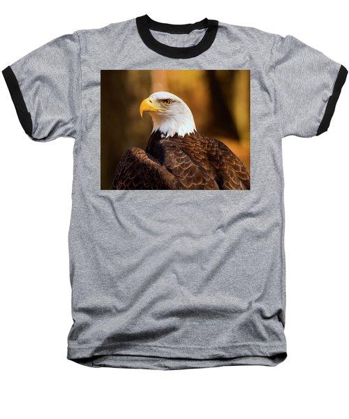 Bald Eagle 2 Baseball T-Shirt by Chris Flees