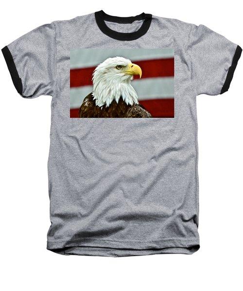 Bald Eagle And Old Glory Baseball T-Shirt