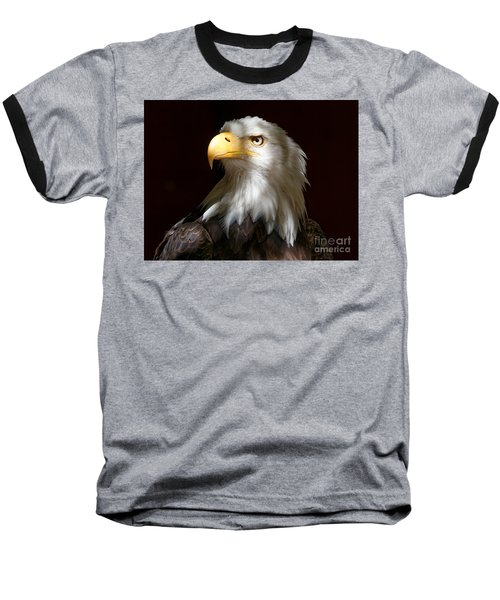 Bald Eagle Closeup Portrait Baseball T-Shirt