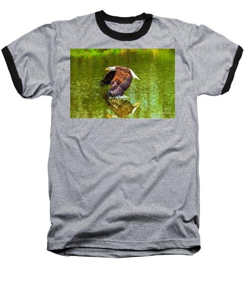 Bald Eagle Cutting The Water Baseball T-Shirt