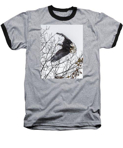 Bald Eagle Flying Baseball T-Shirt