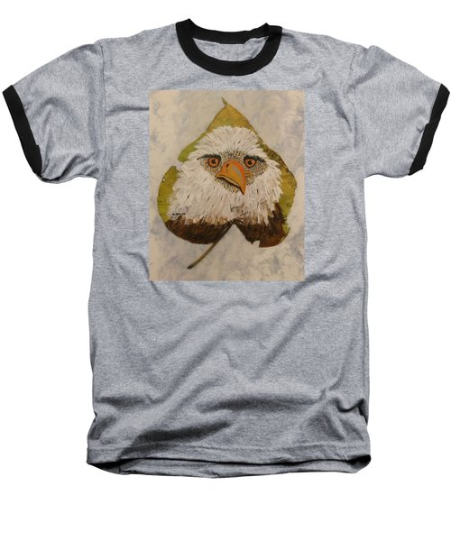Bald Eagle Front View Baseball T-Shirt by Ralph Root