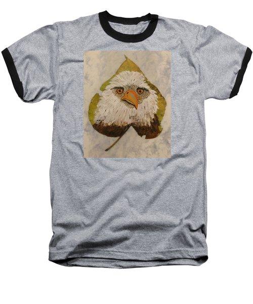Bald Eagle Front View Baseball T-Shirt