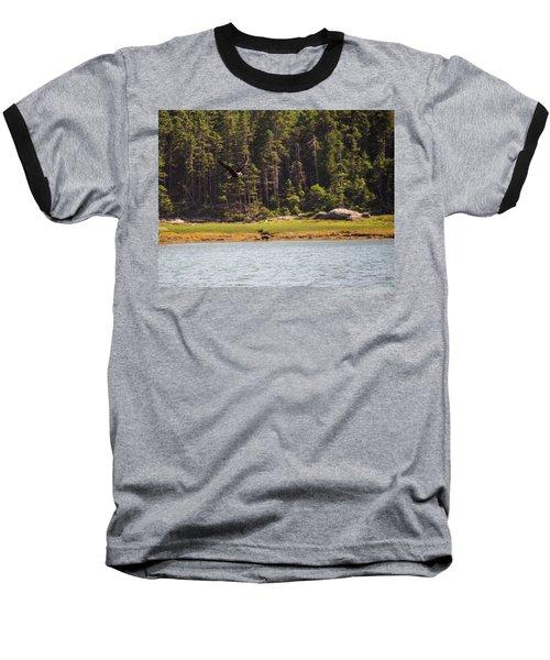 Bald Eagle In Flight Baseball T-Shirt