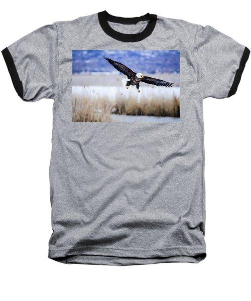 Bald Eagle Landing Baseball T-Shirt