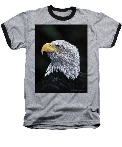 Bald Eagle Baseball T-Shirt by Linda Becker