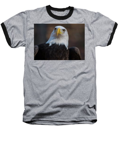 Bald Eagle Looking Right Baseball T-Shirt