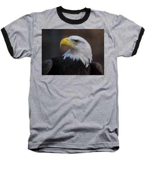 Bald Eagle Painting Baseball T-Shirt by Chris Flees