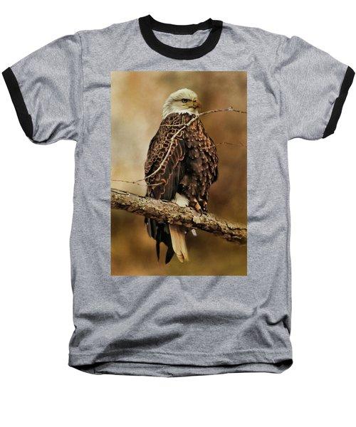 Bald Eagle Perch Baseball T-Shirt by TnBackroadsPhotos