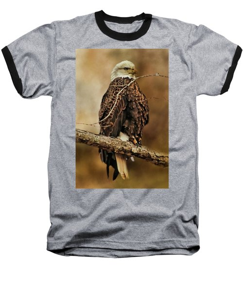 Bald Eagle Perch Baseball T-Shirt