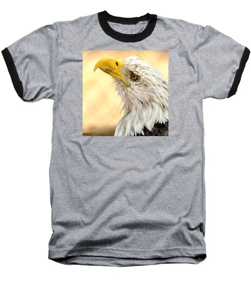 Baseball T-Shirt featuring the photograph Bald Eagle Portrait by Yeates Photography