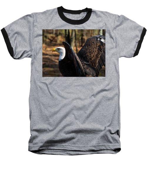 Bald Eagle Preparing For Flight Baseball T-Shirt