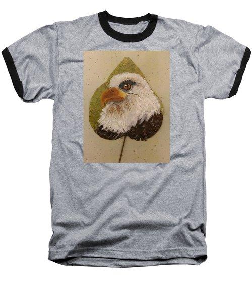 Bald Eagle Side Veiw Baseball T-Shirt
