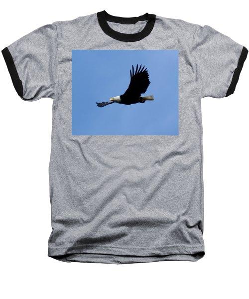 Bald Eagle Soaring High Baseball T-Shirt