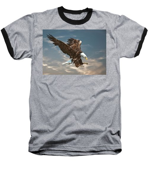 Bald Eagle Swooping Baseball T-Shirt