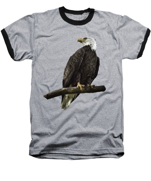 Bald Eagle Transparency Baseball T-Shirt