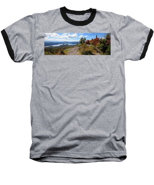 Bald Mountain Autumn Panorama Baseball T-Shirt