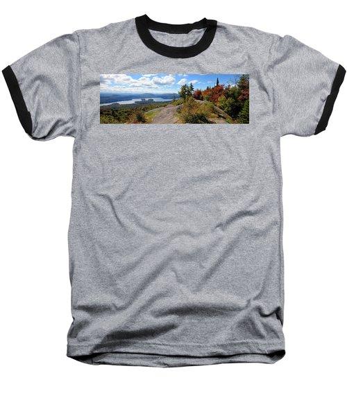Bald Mountain Autumn Panorama Baseball T-Shirt
