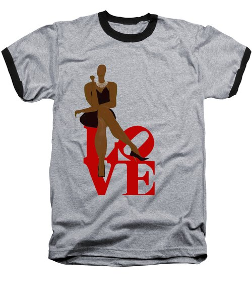 Bald Sitting On Love Baseball T-Shirt
