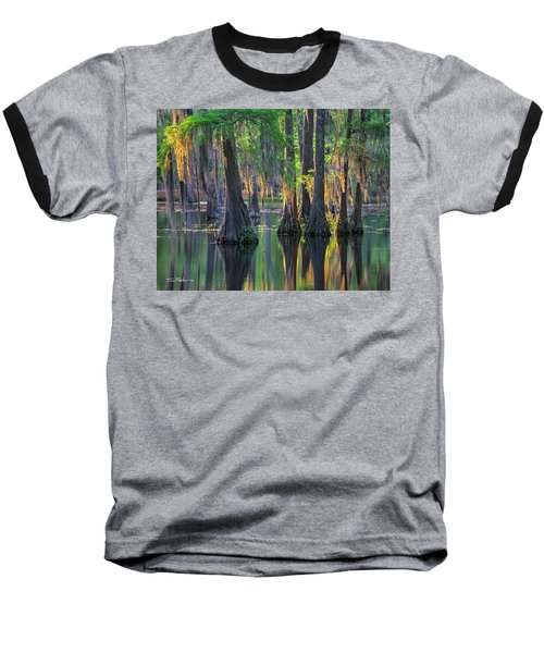 Baldcypress Trees, Louisiana Baseball T-Shirt