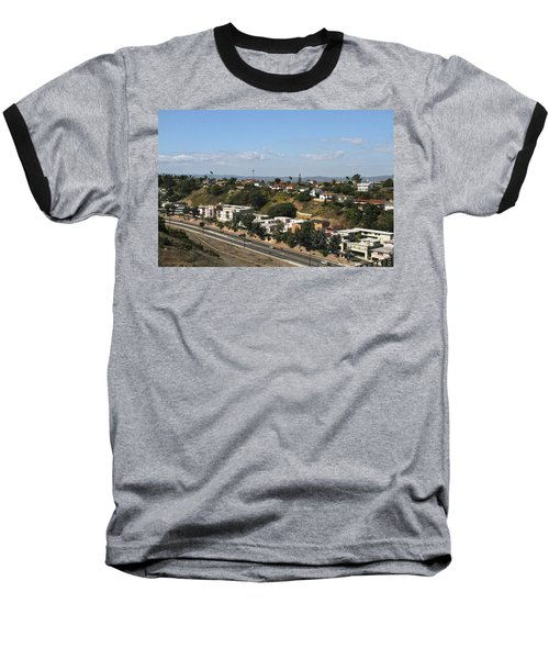 Baldwin Hills Over Stocker Street  Baseball T-Shirt