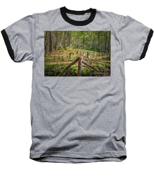 Bales Cemetery Baseball T-Shirt by Patrick Shupert